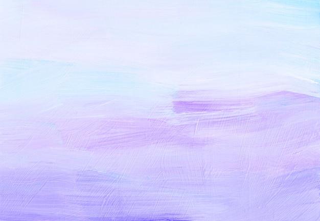 Streszczenie pastelowe lawendy i białe tło. lekka minimalistyczna miękka . pociągnięcia pędzlem na papierze.