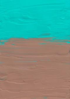 Streszczenie pastelowe morze zielone i brązowe tło