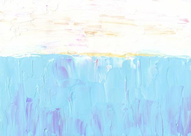 Streszczenie pastelowe niebieskie, żółte i białe tło
