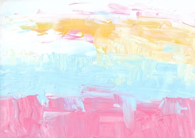 Streszczenie pastelowe różowe, żółte, białe, niebieskie tło