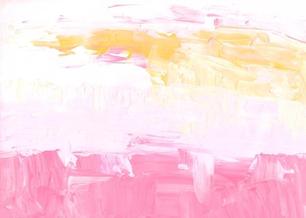 Streszczenie pastelowe różowe, żółte i białe tło z teksturą