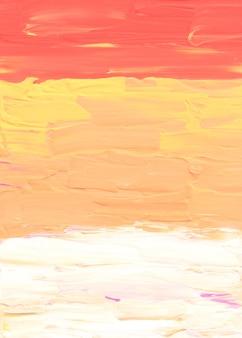 Streszczenie pastelowe żółte brzoskwinie i białe tło