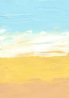 Streszczenie pastelowe żółte, niebieskie i białe tło