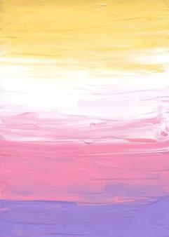 Streszczenie pastelowe żółte, różowe, fioletowe i białe tło