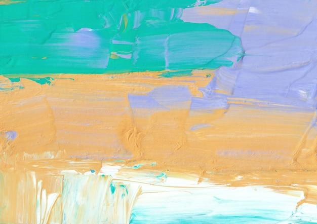 Streszczenie pastelowe żółte zielone niebieskie i białe tło