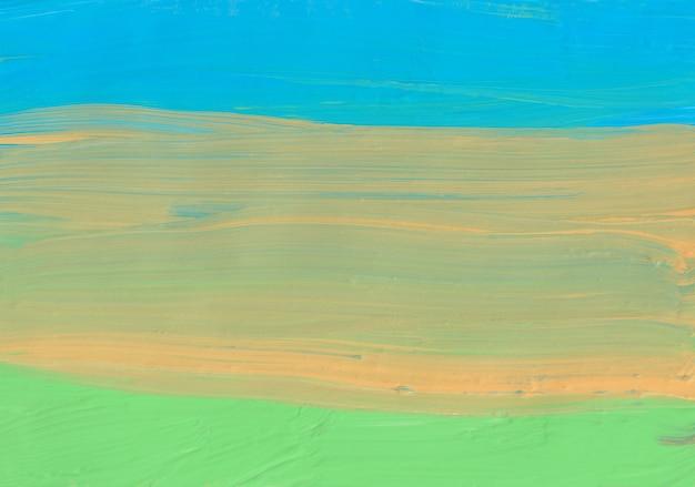 Streszczenie pastelowe żółte zielone niebieskie tło