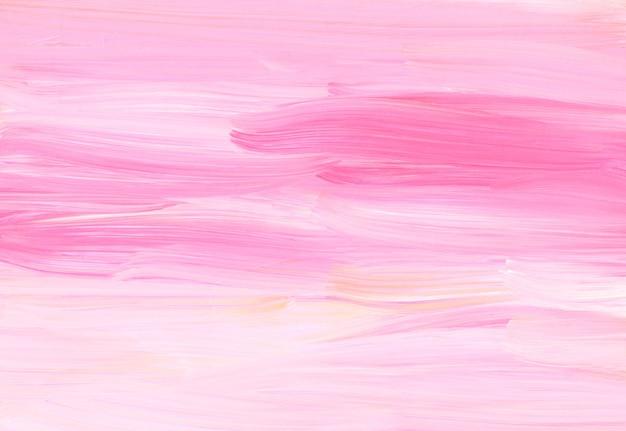 Streszczenie pastelowy różowy i biały tekstura tło. miękkie pociągnięcia pędzlem na papierze.