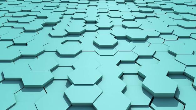 Streszczenie pętli tła o strukturze plastra miodu. ilustracja 3d. zapętlana animacja 4k uhd