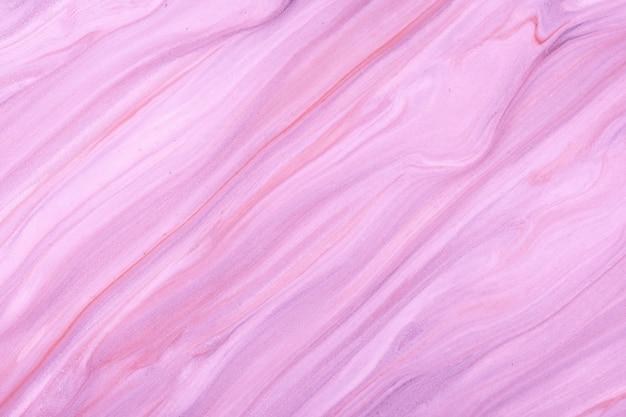 Streszczenie płynne tło sztuki w jasnych kolorach fioletowym i liliowym. płynny marmur. obraz akrylowy na płótnie z fioletowym gradientem