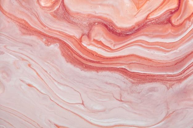 Streszczenie płynne tło sztuki w kolorach różowym i różanym. płynny marmur. obraz akrylowy na płótnie z gradientem. akwarela tło wzór.