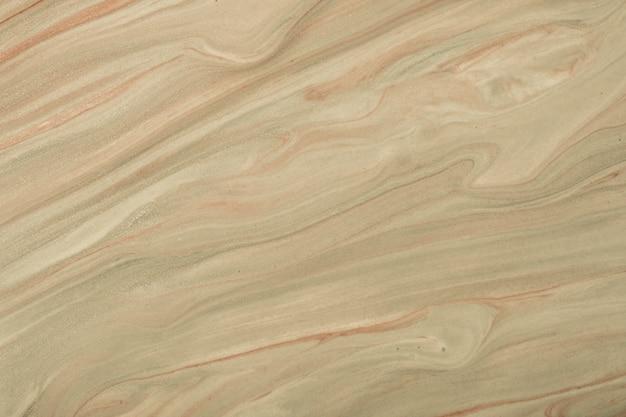 Streszczenie płynne tło w kolorach ciemnobrązowym i beżowym. płynny marmur. obraz akrylowy z gradientem piaskowej perły.