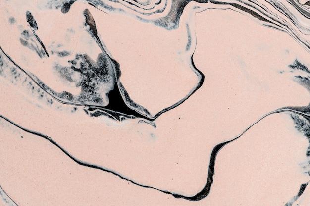 Streszczenie płynnego marmuru beżowe tło ręcznie robione sztuki eksperymentalnej