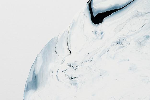 Streszczenie płynnego marmuru białe tło ręcznie robiona sztuka eksperymentalna