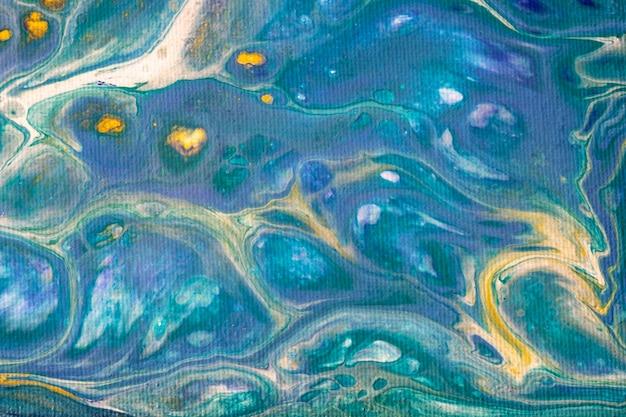 Streszczenie płynnej sztuki tła jasnoniebieskie i żółte kolory
