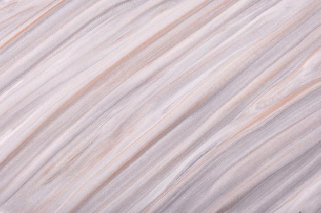 Streszczenie płynnej sztuki tła jasnoszare i beżowe kolory. płynny marmur. obraz akrylowy na płótnie z gradientem kości słoniowej