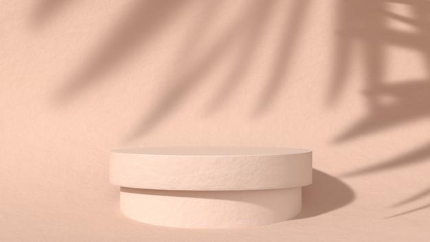 Streszczenie podium do lokowania produktów kosmetycznych w naturalnym tle