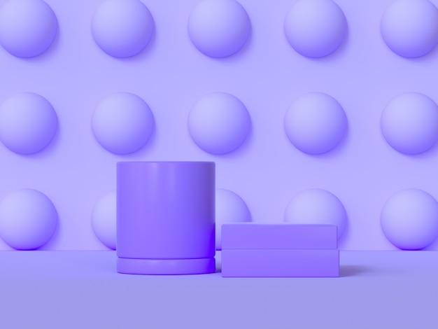 Streszczenie podium fioletowy scena geometryczny kształt renderowania 3d