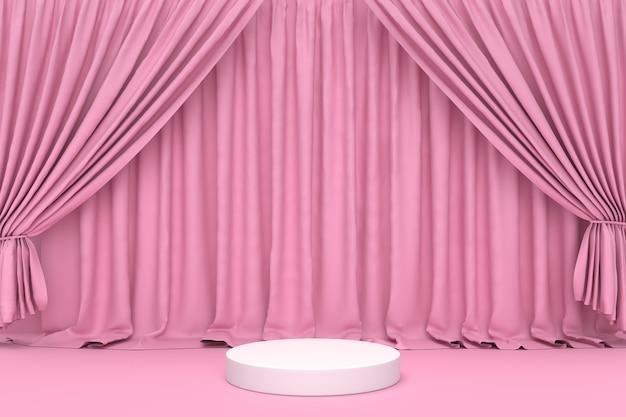 Streszczenie podium makiety pastelowy róż