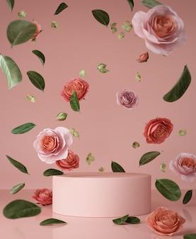 Streszczenie podium różowy scena