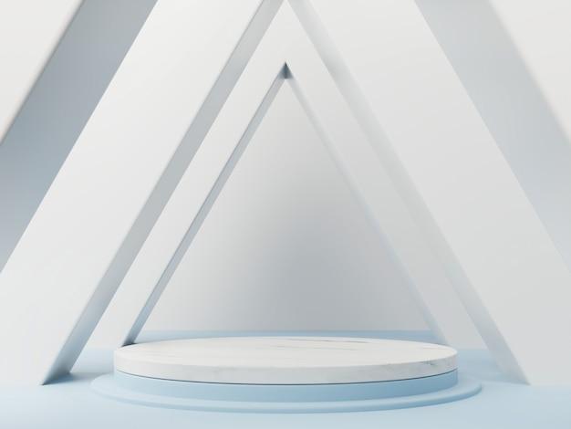 Streszczenie podium z łukami trójkąta