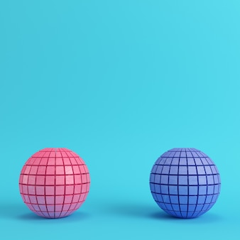 Streszczenie podzielone kule na jasnym niebieskim tle