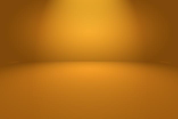 Streszczenie pomarańczowe tło z gładkim kolorem gradientu koła.