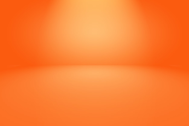 Streszczenie Pomarańczowe Tło Z Gładkim Kolorem Gradientu Koła. Premium Zdjęcia