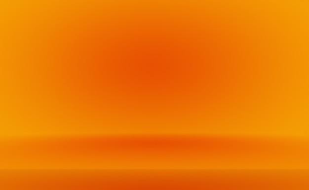 Streszczenie pomarańczowym tle projekt układustudioroom szablon sieci web raport biznesowy z gładkim okręgiem g...