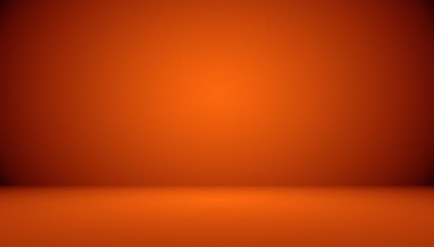Streszczenie projekt układu gładkiego pomarańczowego tła, studio, pokój, szablon strony internetowej, raport biznesowy z kolorem gradientu gładkiego okręgu