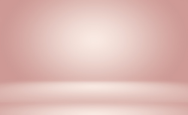 Streszczenie puste gładkie jasnoróżowe studio pokój