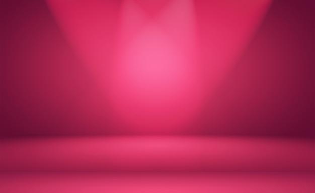 Streszczenie pusty gładki jasnoróżowy pokój studio tło, użyj jako montaż do wyświetlania produktu, baner, szablon.