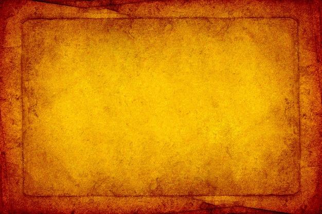 Streszczenie rama stary brązowy papier grunge tekstury tła.