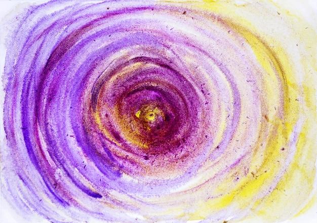 Streszczenie ręcznie malowane akwarela kolorowe mokre tło na papierze