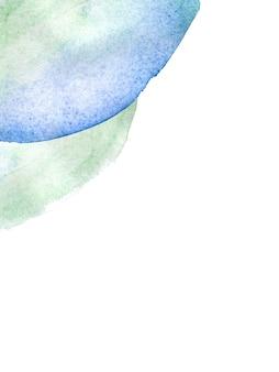 Streszczenie ręcznie rysowane akwarela plama na białym tle na białym tle miejsce.