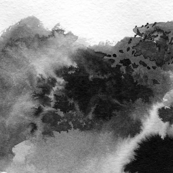 Streszczenie ręcznie rysowane tuszem plamy ilustracja. minimalistyczne ręcznie rysowane czarno-białe malarstwo.