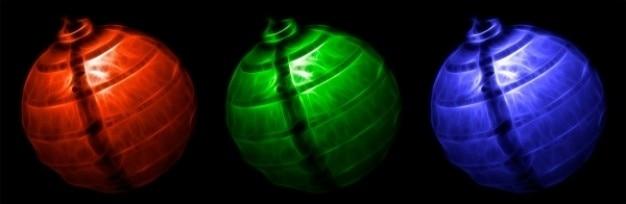 Streszczenie rgb latarnie