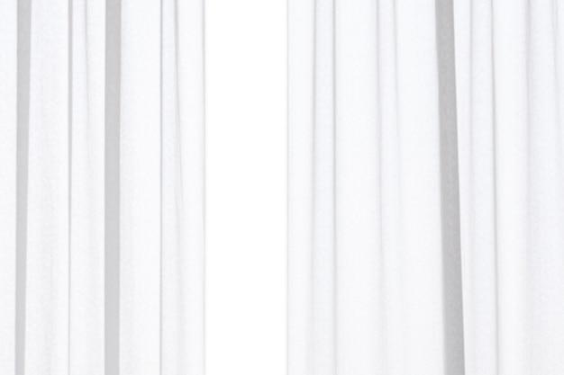 Streszczenie rozmycie białe zasłony na białym tle