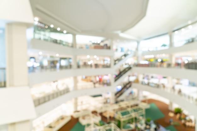 Streszczenie rozmycie centrum handlowego i sklepu detalicznego na tle