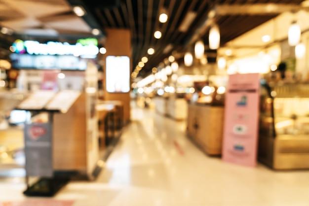 Streszczenie rozmycie centrum handlowego na tle