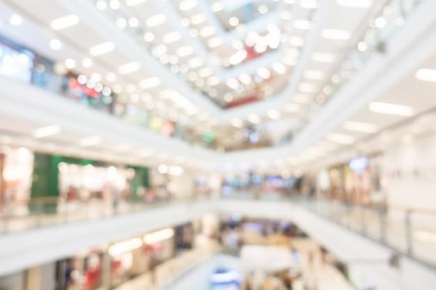 Streszczenie rozmycie centrum handlowego wnętrza