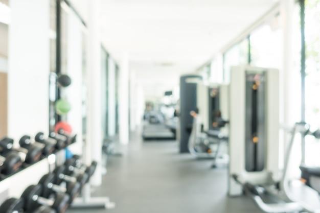 Streszczenie rozmycie fitness i siłownia