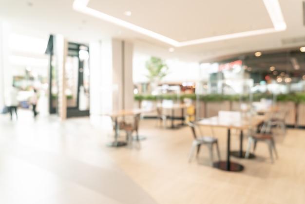 Streszczenie rozmycie food court w centrum handlowym na tle