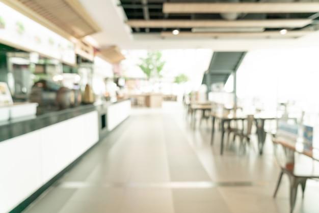 Streszczenie rozmycie food court w centrum handlowym