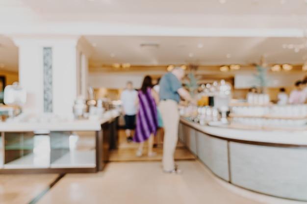 Streszczenie rozmycie hotelowa restauracja na tle