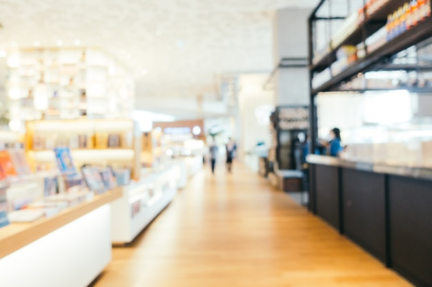Streszczenie rozmycie i defocused biblioteki i sklep z sklepami sklepu
