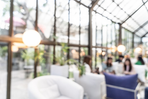 Streszczenie rozmycie i defocused w kawiarni restauracji na tle
