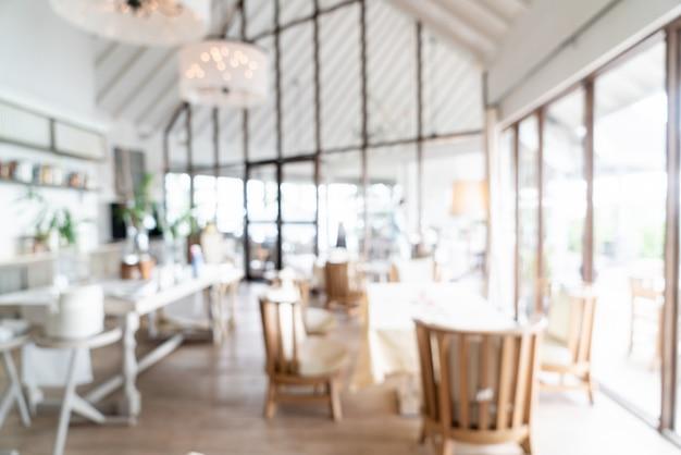 Streszczenie rozmycie i nieostre hotelowa restauracja na tle