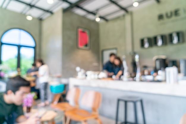 Streszczenie rozmycie i nieostre kawiarnia na tle