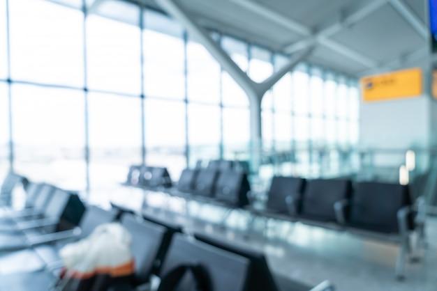 Streszczenie rozmycie i nieostre wnętrze terminala lotniska