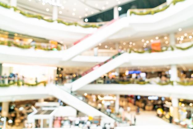 Streszczenie rozmycie i niewyraźne luksusowe centrum handlowe i sklep detaliczny